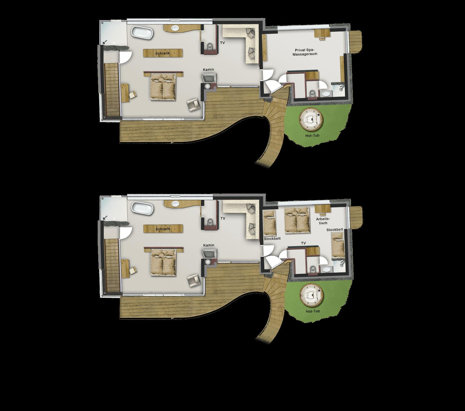 OG + Cottage: wahlweise als Massage- oder Arbeitszimmer oder auch als 3. Schlafzimmer nutzbar